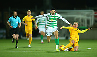 4th March 2020; Almondvale Stadium, Livingston, West Lothian, Scotland; Scottish Premiership Football, Livingston versus Celtic; Craig Sibbald of Livingston slide tackles Tom Rogic of Celtic