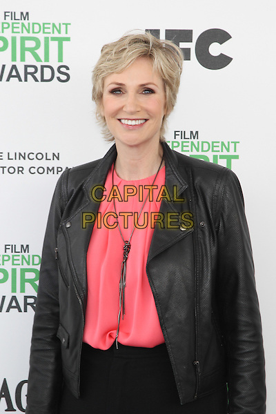 SANTA MONICA, CA - MARCH 1: Jane Lynch attending the 2014 Film Independent Spirit Awards in Santa Monica, California on March 1st, 2014. Photo Credit: RTNUPA/MediaPunch<br /> CAP/MPI/RTNUPA<br /> &copy;RTNUPA/MediaPunch/Capital Pictures