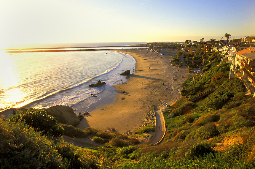 Coastline.  Corona Del Mar, California.