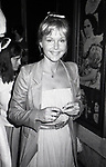 "Carol Lynley attends a performance of ""The Little Foxes"" at the Martin Beck Theatre on July 1, 1981 in New York City."