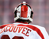 Connor LaCouvee (BU - 30) - The Boston University Terriers defeated the visiting University of Connecticut Huskies 4-2 (EN) on Saturday, October 24, 2015, at Agganis Arena in Boston, Massachusetts.
