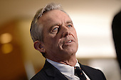 Robert F. Kennedy Jr. talks to members of the media in the lobby of the Trump Tower in New York, NY, on January 10, 2017. <br /> Credit: Anthony Behar / Pool via CNP