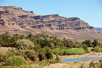Draa River Valley Scene, Morocco, near Zagora.