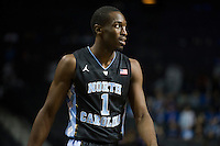 BROOKLYN, NY - Saturday December 19, 2015: Theo Pinson (#1) of North Carolina  and his Tar Heels take on the UCLA Bruins in the CBS Classic at Barclays Center in Brooklyn, NY.