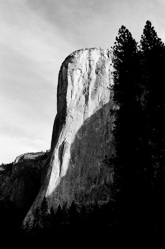 El Capitan, Yosemite ,  35mm image on Ilford Delta 100 film
