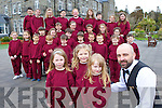 Mike Hannafin Kilcummin who is the 3rd assistant director with Laura Murphy, Ciara de Jong, Aisling O'Leary and the children of St Michaels school in Sneem on the set of Colin Farrell new movie which is being  filmed in the Parknasilla Hotel on Wednesday. front row l-r: Sive O'Leary, Dearbhla O'Sullivan, Klaudijus Digimas, Oghie Burns, Colm Ryan, . Middle row: Gemma O'Brien, Mairead O'Dwyer, Lucy Galvin, Declan O'Brien,, Conor O'Brien,  Eden Hickman, James O'Sullivan, Anita Byrne, Lillian O'Shea, Sean O'Sullivan, Daniel O'Sullivan. Back row: Damian Fitzgerald, Rachel Murphy, Sadie Knightly, Martin Larkin, Meaghan O'Brien, Caoimhe Bergen, Eoin O'Dwyer, Rachel O'Brien and Katie Galvin