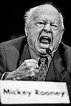 UNITED STATES - MARCH 2: Mickey Rooney testifies about the financial abuse he endured during the U.S. Senate Special Committee on Aging hearing on elder abuse on Wednesday, March 2, 2011. (Photo By Bill Clark/Roll Call)