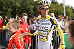Defending champion Marco Pinotti (ITA) Columbia High Road signs autographs for fans before the start of  Stage1 of the 2009 Tour of Ireland, running 196km from the Ritz-Carlton Hotel Powerscourt, Enniskerry to Waterford, Ireland. 21st August 2009.<br /> (Photo by Eoin Clarke/NEWSFILE)