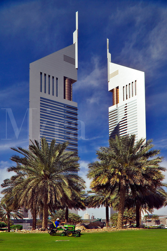 Emirates Towers.  Prestige office towers.   Dubai, United Arab Emirates.