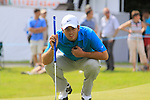 Francesco Molinari lines up his putt on the 12th green during Round 2 of the BMW PGA Championship at  Wentworth, Surrey, England...Photo Golffile/Eoin Clarke.(Photo credit should read Eoin Clarke www.golffile.ie)....This Picture has been sent you under the condtions enclosed by:.Newsfile Ltd..The Studio,.Millmount Abbey,.Drogheda,.Co Meath..Ireland..Tel: +353(0)41-9871240.Fax: +353(0)41-9871260.GSM: +353(0)86-2500958.email: pictures@newsfile.ie.www.newsfile.ie.