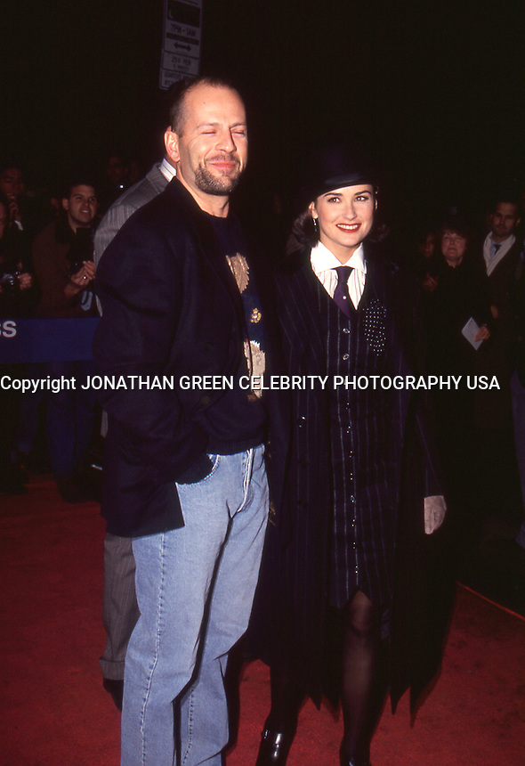 Bruce Willis &amp; Demi Moore 1992 by<br /> Jonathan Green