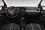 Stock photo of straight dashboard view of 2016 Peugeot 108 Allure 5 Door Micro Car Dashboard