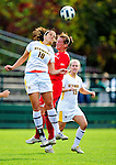 14 October 2010: University of Vermont Catamount midfielder/forward Gabby Bonfigli, a Senior from Essex Junction, VT, in action against the University of Hartford Hawks at Centennial Field in Burlington, Vermont. The Hawks defeated the Lady Cats 6-2 in America East play. Mandatory Credit: Ed Wolfstein Photo
