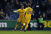 Callum Robinson celebrates scoring Preston's first goal with Tom Barkhuizen during Millwall vs Preston North End, Sky Bet EFL Championship Football at The Den on 13th January 2018