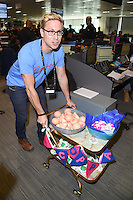 Russell Howard<br /> on the trading floor for the BGC Charity Day 2016, Canary Wharf, London.<br /> <br /> <br /> &copy;Ash Knotek  D3152  12/09/2016