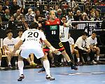 10.01.2019, Mercedes Benz Arena, Berlin, GER, Handball WM 2019, Deutschland vs. Korea, im Bild <br /> Paul Drux (GER #95), PARK Kwangsoon (Korea #20)<br /> <br />      <br /> Foto © nordphoto / Engler