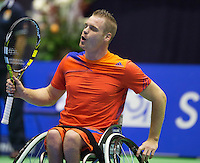 22-12-13,Netherlands, Rotterdam,  Topsportcentrum, Tennis Masters, , , Wheelchair Final, Maikel Scheffers(NED)    Ronald Vink(NED)<br /> Photo: Henk Koster