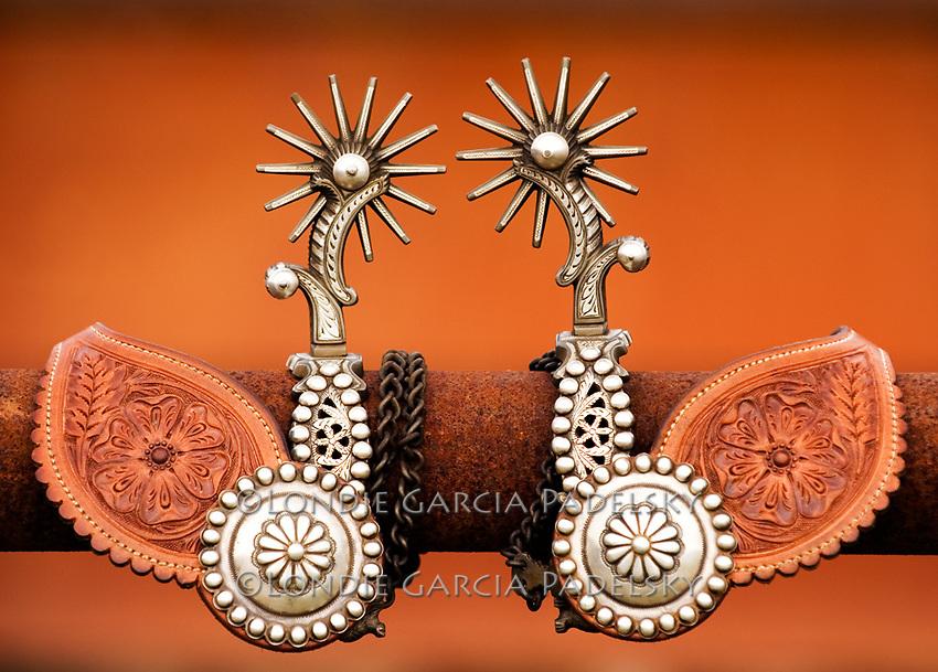 Vintage, sterling silver custom made cowboy spurs. (Bruce Haener artist)
