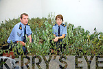 Garda Sergeant Michael Quirke & Garda Breda O'Donoghue pictured here with the haul of marijuana plants which were seized from a 'Grow House' in Cahersiveen over the weekend.