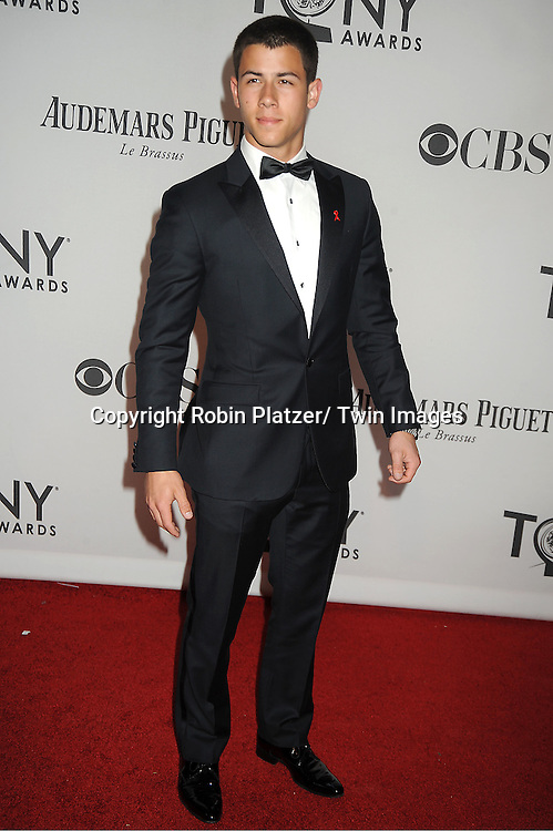 Nick Jonas attends th 66th Annual Tony Awards on June 10, 2012 at The Beacon Theatre in New York City.
