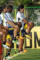 BARRANQUILLA, COLOMBIA - 19-03-2013: Los jugadores de la Selección Colombia durante entreno en Barranquilla, marzo 19 de 2103. El equipo colombiano se prepara en Barranquilla para los partidos contra Bolivia el 22 de marzo y Venezuela el 26 de marzo, partidos clasificatorios a la Copa Mundial de la FIFA Brasil 2014. (Foto: VizzorImage / Luis Ramírez / Staff). The players players of the Colombian national team during a training session in Barranquilla on March 19, 2012. The Colombia team prepares for the games against Bolivia next March 23 and Venezuela on March 26, matchs qualifying for the FIFA World cup Brazil 2014. (Photo: VizzorImage / Luis Ramirez/ Staff).