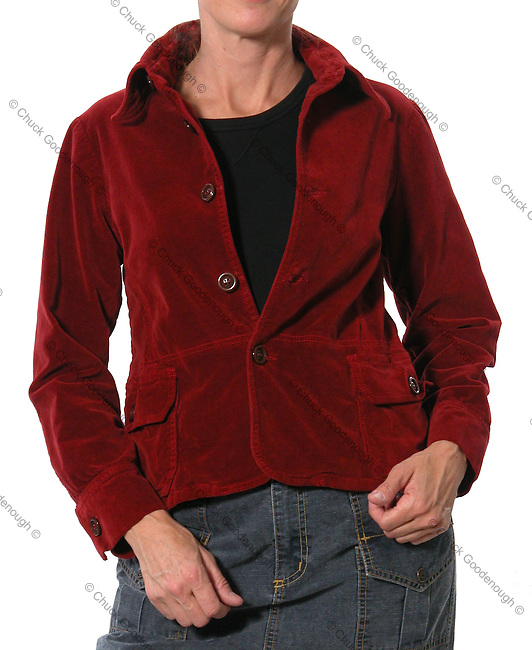 Stock photo of a women's Stretch Corduroy Jacket Apparel