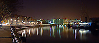 Bristol docks at night with the SS Great Britain and the Matthew