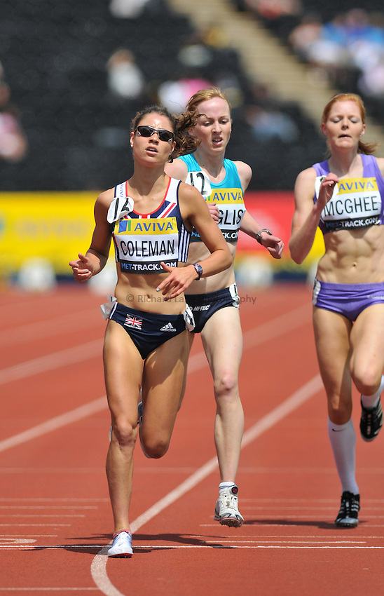 Photo: Tony Oudot/Richard Lane Photography..Aviva London Grand Prix. 25/07/2009. .women's 3000m Under 20. .Led by Sophie Coleman.