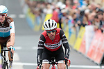 Richie Porte (AUS) Trek-Segafredo crosses the finish line at the end of Stage 2 of the Criterium du Dauphine 2019, running 180km from Mauriac to Craponne-sur-Arzon, France. 9th June 2019<br /> Picture: Colin Flockton | Cyclefile<br /> All photos usage must carry mandatory copyright credit (© Cyclefile | Colin Flockton)