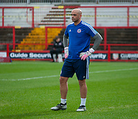 Accrington Stanley's goalkeeping coach Tony Warner<br /> <br /> Photographer Andrew Vaughan/CameraSport<br /> <br /> The EFL Sky Bet League One - Accrington Stanley v Lincoln City - Saturday 15th February 2020 - Crown Ground - Accrington<br /> <br /> World Copyright © 2020 CameraSport. All rights reserved. 43 Linden Ave. Countesthorpe. Leicester. England. LE8 5PG - Tel: +44 (0) 116 277 4147 - admin@camerasport.com - www.camerasport.com