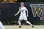 29 November 2015: Wake Forest's Sam Raben. The Wake Forest University Demon Deacons hosted the Indiana University Hoosiers at Spry Stadium in Winston-Salem, North Carolina in a 2015 NCAA Division I Men's Soccer Tournament Third Round match. Wake Forest won the game 1-0.