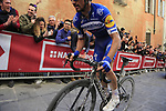 Julian Alaphilippe (FRA) Deceuninck-Quick Step climbs Via Santa Caterina in Siena in the last km of Strade Bianche 2019 running 184km from Siena to Siena, held over the white gravel roads of Tuscany, Italy. 9th March 2019.<br /> Picture: Eoin Clarke | Cyclefile<br /> <br /> <br /> All photos usage must carry mandatory copyright credit (© Cyclefile | Eoin Clarke)