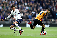 1st March 2020; Tottenham Hotspur Stadium, London, England; English Premier League Football, Tottenham Hotspur versus Wolverhampton Wanderers; Rúben Vinagre of Wolverhampton Wanderers takes on Dele Alli of Tottenham Hotspur publications