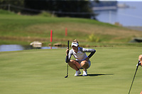 Nelly Korda (USA) on the 5th green during Thursday's Round 1 of The Evian Championship 2018, held at the Evian Resort Golf Club, Evian-les-Bains, France. 13th September 2018.<br /> Picture: Eoin Clarke | Golffile<br /> <br /> <br /> All photos usage must carry mandatory copyright credit (© Golffile | Eoin Clarke)