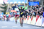 Jerome Cousin (FRA) Direct Energie wins Stage 5 running 165km from Salon-de-Provence to Sisteron, France. 8th March 2018.<br /> Picture: ASO/Alex Broadway | Cyclefile<br /> <br /> <br /> All photos usage must carry mandatory copyright credit (&copy; Cyclefile | ASO/Alex Broadway)