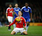 Ander Herrera of Manchester United slides on his knees to chest the ball into play - English Premier League - Manchester Utd vs Chelsea - Old Trafford Stadium - Manchester - England - 28th December 2015 - Picture Simon Bellis/Sportimage