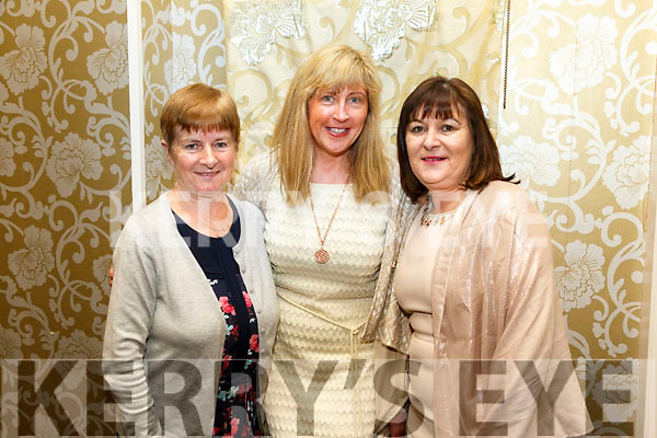 At the Fundraising Dance in aid of Recovery Haven Kerry Cancer Support House at Earl of Desmond Hotel on Friday were Margaret O'Riordan, Mary O'Mahony and Marie Costello