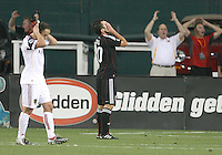 They cannot believe he missed. Stephen King #20 of D.C. United after missing an easy scoring opportunity during an MLS match against Real Salt Lake at RFK Stadium, on June 5 2010 in Washington DC. The game ended in a 0-0 tie.