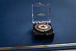 NAUGATUCK, CT. 08 December 2018-120818 - The commemorative lapel pin given to the spouses sits on a certificate during the honoring of Vietnam Veterans Spouses. part of the the Certificate of Honor Program at the American Legion Post 17 in Naugatuck on Saturday. Bill Shettle Republican-American