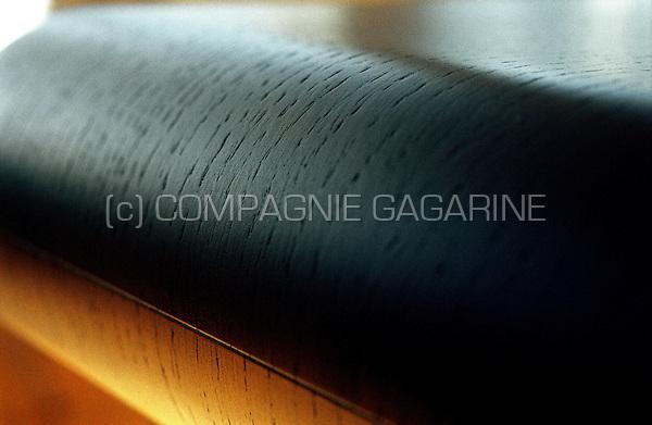 "close-up of a Ligne Roset ""100%"" design desk"
