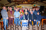 Surprise Presentation : Shannon Rangers Gaa club made a surprise presentation by Kerry Players Shane Enright & Jason Fioley to John Dee of the Railway Bar, Ballybunion on Friday night last in recognition of his sponsorship of the club over the last ten years.