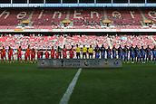 01.08.2015. Cologne, Germany. Pre Season Tournament. Colonia Cup. Valencia CF versus FC Porto.  The teams of Valencia and Porto line up for game 2.
