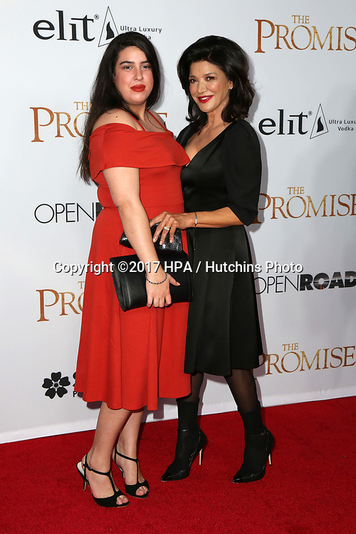 "LOS ANGELES - APR 12:  Tara Touzie, Shohreh Aghdashloo at the ""The Promise"" Premiere at the TCL Chinese Theater IMAX on April 12, 2017 in Los Angeles, CA"