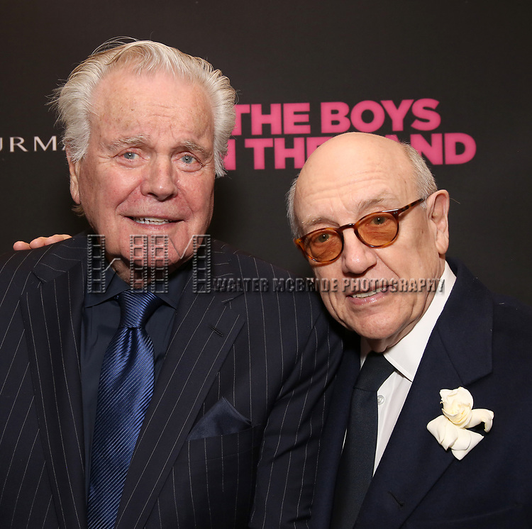 Robert Wagner and Mart Crowley attends 'The Boys in the Band' 50th Anniversary Celebration at The Booth Theatre on May 30, 2018 in New York City.