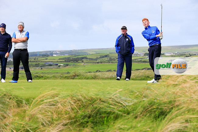 John Murphy (Kinsale) during the last 16 of the South of Ireland from Lahinch golf club, Lahinch, Co. Clare, Ireland. <br /> Picture: Fran Caffrey / Golffile