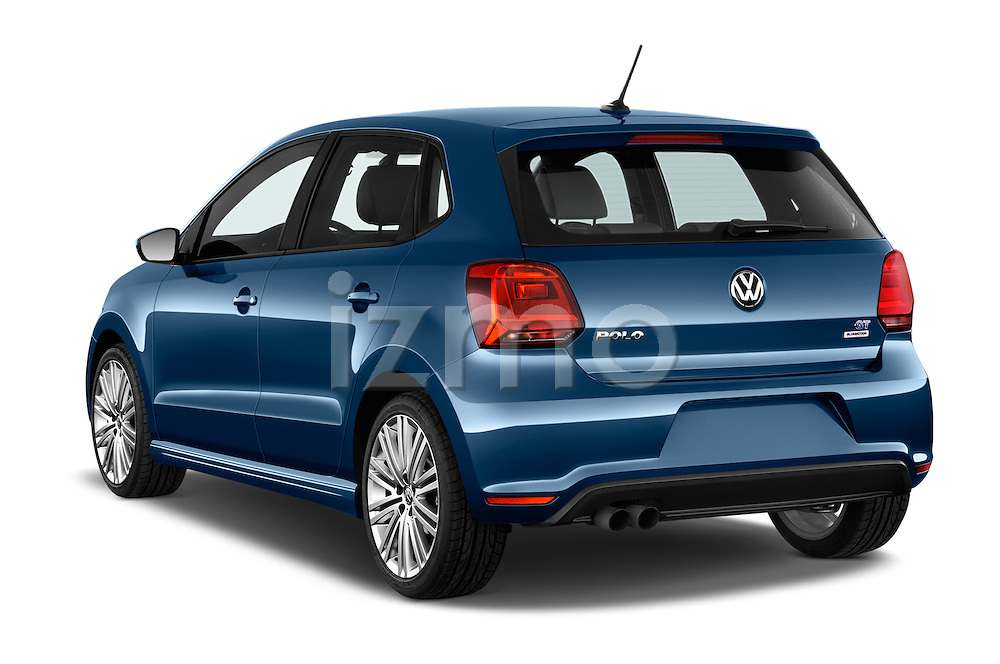 Car pictures of rear three quarter view of 2016 Volkswagen Polo Blue-GT 5 Door Hatchback Angular Rear