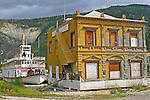 Dawson City 2010, Keno, Old Bank building, Moose Hide Slide,THE YUKON TERRITORY, CANADA