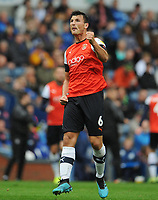 Luton Town's Matty Pearson celebrates scoring his side's second goal <br /> <br /> Photographer Kevin Barnes/CameraSport<br /> <br /> The EFL Sky Bet Championship - Blackburn Rovers v Luton Town - Saturday 28th September 2019 - Ewood Park - Blackburn<br /> <br /> World Copyright © 2019 CameraSport. All rights reserved. 43 Linden Ave. Countesthorpe. Leicester. England. LE8 5PG - Tel: +44 (0) 116 277 4147 - admin@camerasport.com - www.camerasport.com