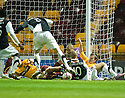 26/10/2010   Copyright  Pic : James Stewart.sct_jsp017_motherwell_v_dunde_utd  .::  SCOTT ROBERTSON CAN'T GET A FOOT ON THE BALL IN A LATE GOAL LINE SCRAMBLE :.James Stewart Photography 19 Carronlea Drive, Falkirk. FK2 8DN      Vat Reg No. 607 6932 25.Telephone      : +44 (0)1324 570291 .Mobile              : +44 (0)7721 416997.E-mail  :  jim@jspa.co.uk.If you require further information then contact Jim Stewart on any of the numbers above.........