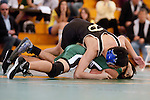 Manhattan Beach, CA 01/29/10 - In the 119 lbs. category Mira Costa's Nico Ledesma wrestled Dan Powell of Peninsula.  Peninsula defeated Mira Costa 49-15.